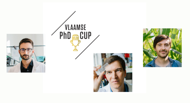 PhD Cup 2021: Benjamin Claessens, Hans Gerstmans en Jonas Vandicke (vergrote weergave)