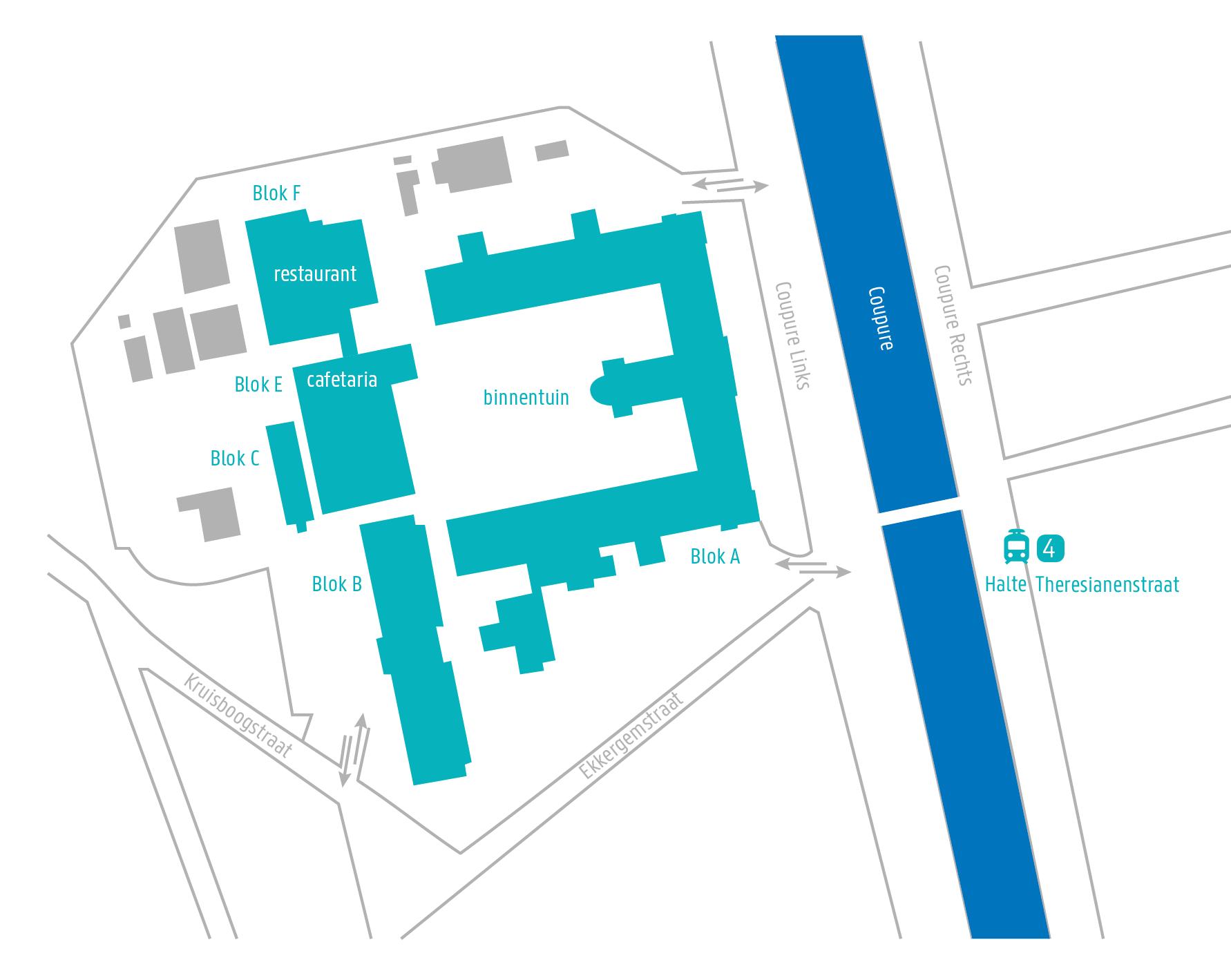 Map Campus Coupure