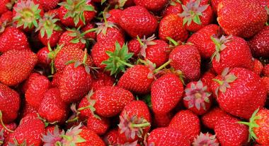 strawberries (vergrote weergave)
