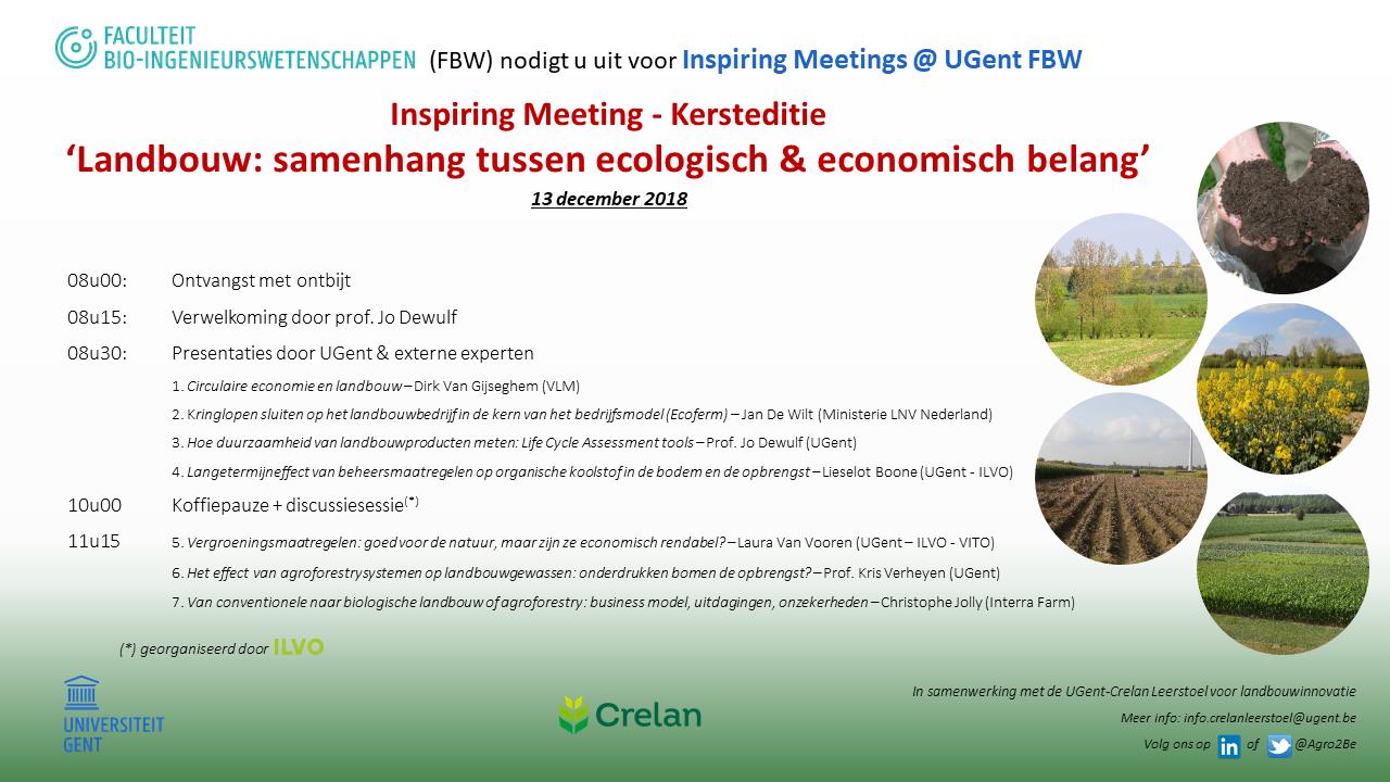 programma 'Landbouw: samenhang ecologisch en economisch belang'