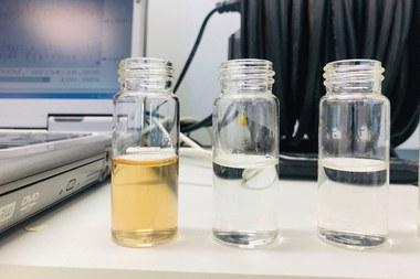 Verwijdering voor en na ozonisatie (vergrote weergave)