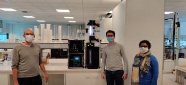 (vlnr) Prof. Stijn Van Hulle, dr. Dries Parmentier en PhD Nazia Hassan (vergrote weergave)