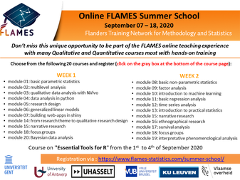 Flames Summer School 2020 (large view)