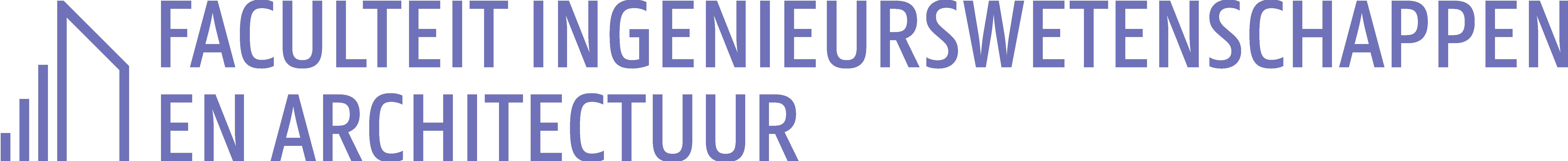 Logo Ingenieurswetenschappen en Architectuur (kleur op wit)