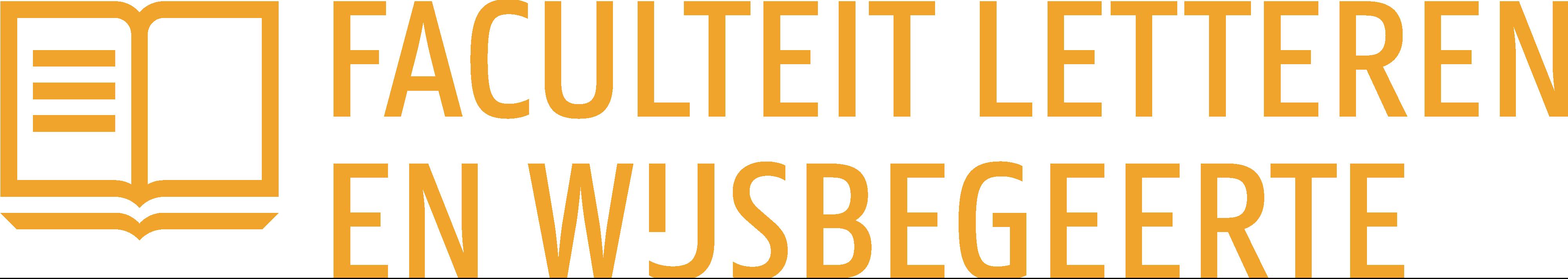 Logo Faculteit Letteren en Wijsbegeerte (kleur op wit)