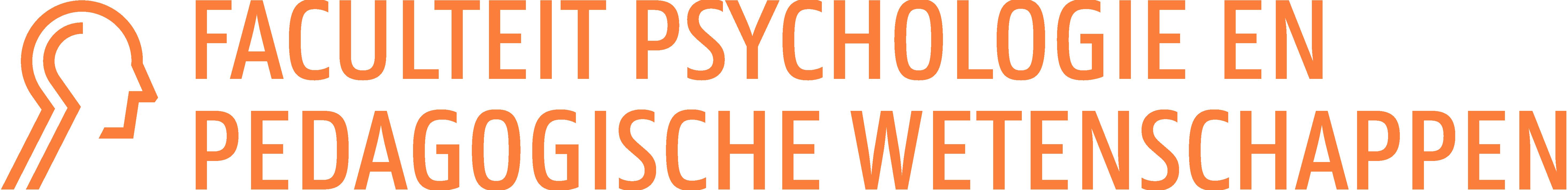 Logo Faculteit Psychologie en Pedagogische Wetenschappen (kleur op wit)
