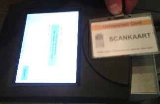 scankaart op kaartlezer