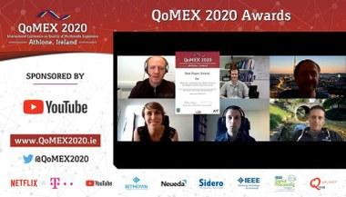 Best Paper Award at QoMEX 2020 (large view)