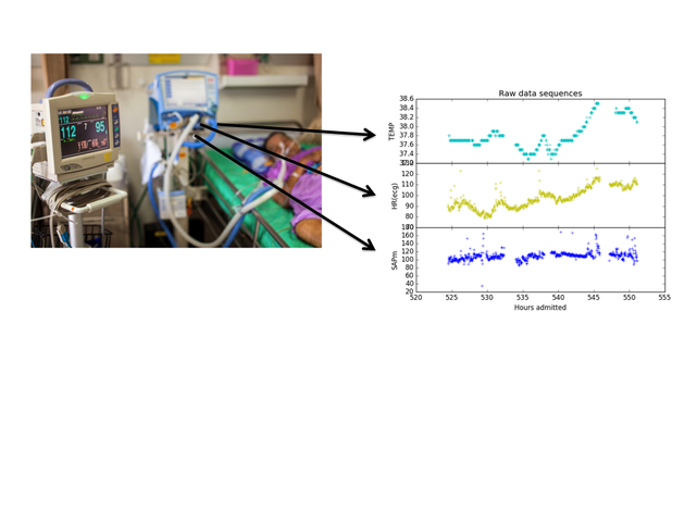 Extraction and analysis of time series data from physiological parameters