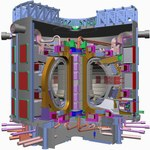 ITER, the international tokamak being built at the Cadarache site near Aix-en-Provence in France.