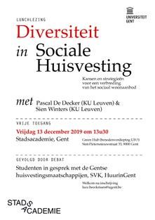 Lunchlezing: Diversiteit in Sociale Huisvesting