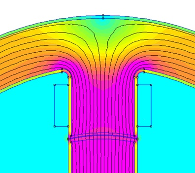 Modelling degraded zones near the cutting edges of a switched reluctance machine