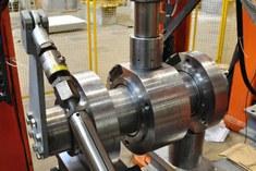 large scale roller bearing test setup - Soete Laboratory - Ghent University