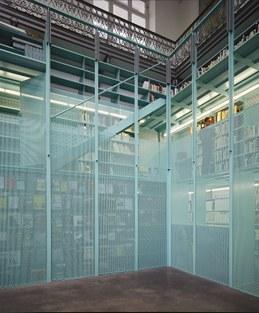 Neergelaten borstwering Faculteitsbibliotheek Ingenieurswetenschappen en Architectuur