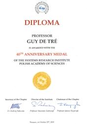 Diploma Guy De Tré (vergrote weergave)