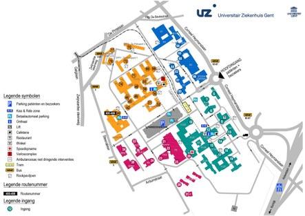 Map Campus Ghent University Hospital