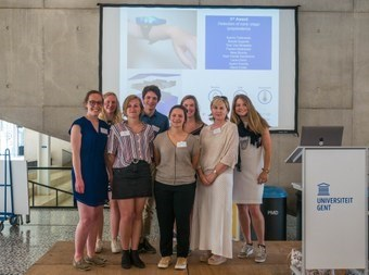 Co-creation team with E-TEAM student that won the UGent Big Questions award 2018.