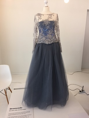 Dress with moving images