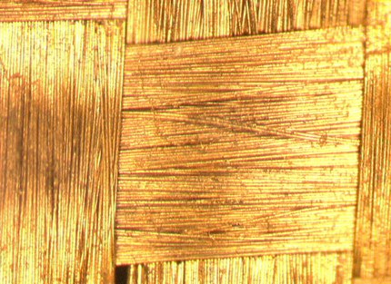 gold coated fabric