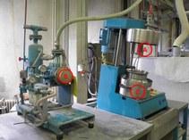b) Intensive vacuum mixing