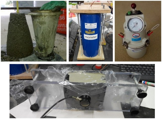 Characterization of properties of fresh recycled concrete.