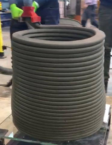 A 3D printed cylindrical element