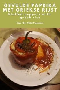 Gevulde paprika met Griekse rijst - Viktor Proesmans