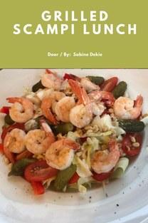 Grilled scampi lunch - Sabine Dekie