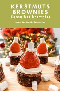 Kerstmuts brownies - Joyce De Temmerman