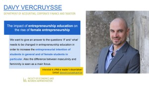 Research of Davy Vercruysse
