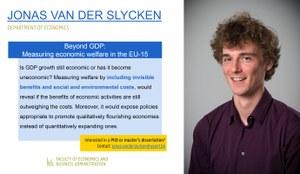 Research of Jonas Van der Slycken