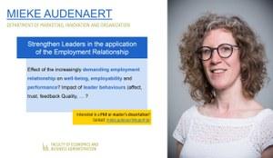 Research of Mieke Audenaert