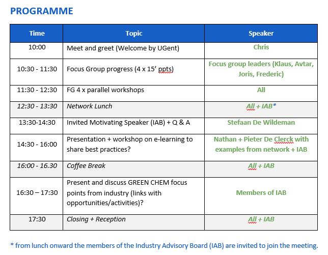 GA Programme