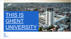 PowerPoint presentation 'This is Ghent University'
