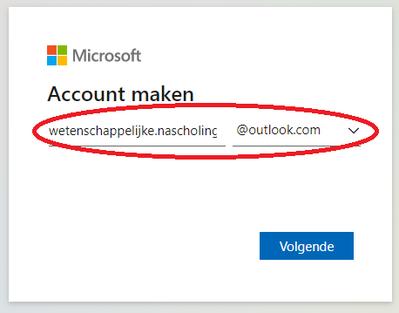 Kies een e-mailadres in Outlook