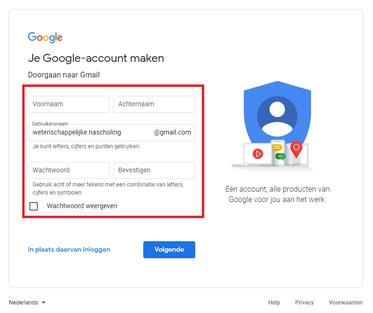 Persoonlijke gegevens (Gmail)