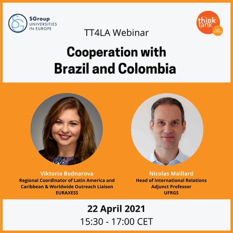 TT4LA Webinar on Cooperation with Brazil and Colombia