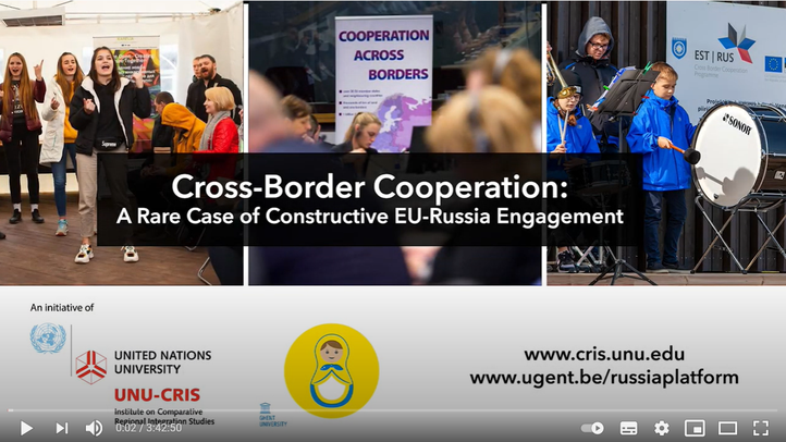 This webinar was jointly organised by UNU-CRIS and the Russia Platform on 8 April 2021