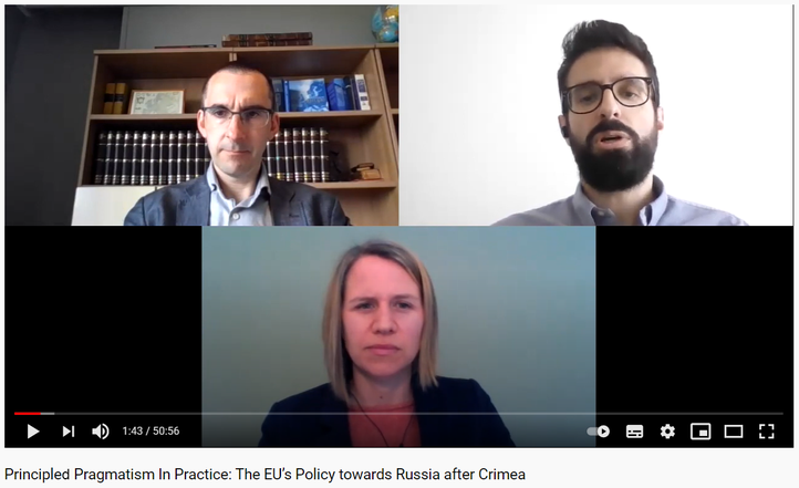 Podcast on the book 'Principled Pragmatism in Practice: The EU's Policy towards Russia after Crimea'