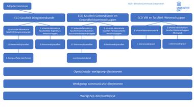 Diagram UGent-organen dierproeven (vergrote weergave)