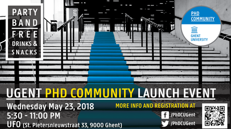 The poster for the launch event of the PhD Community.