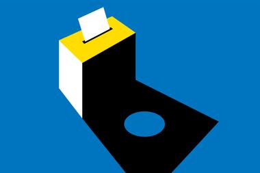 Visual stembus voor interne verkiezingen (groot formaat) (vergrote weergave)