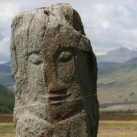 Turkic anthropomorphic stela in Dzhazator (Altay)