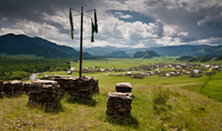 A sanctuary on one of the hill tops surrounding Karakol village