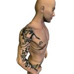 Tattoos found on a man buried in Pazyryk (Altay)