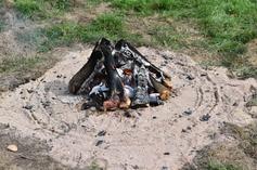 Flint burning experiment
