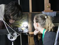 Mobile Raman spectroscopy of Ghent Altarpiece