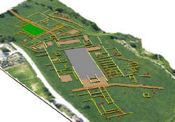 Roman town of Trea - 3D interpretation of the results of the geophysical survey