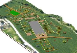 Romeinse stad Trea - 3D interpretatie van de resultaten van de geofysische prospectie