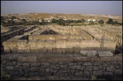 Pessinus -Restanten van de Romeinse tempel